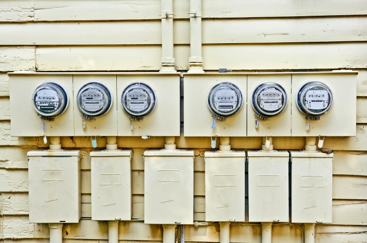 Electric Meters On Old House